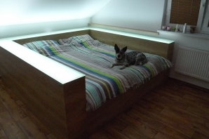 Realizace postel a komoda / dekor Nebrasca