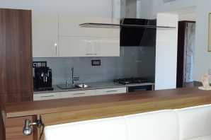 Designový set - dýha, nerez a sklo