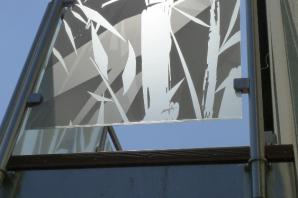 Greytech skleněná výplň zábradlí s grafikou