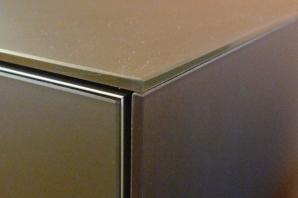 TV stolek sklo/nerez/MDF